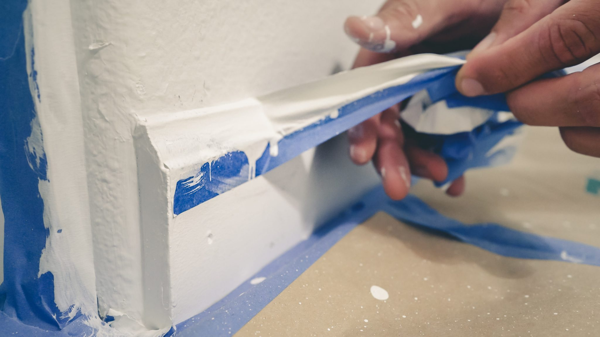 Use A Tape To Achieve A Perfect Caulk Edge