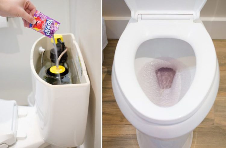 Toilet Leak Can Be Discovered By Using A Kool-Aid